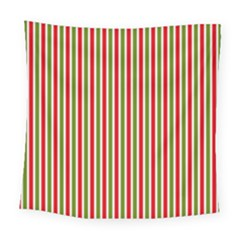 Pattern Background Red White Green Square Tapestry (large)