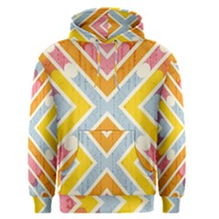 Line Pattern Cross Print Repeat Men s Pullover Hoodie