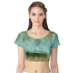 Rainforest Short Sleeve Crop Top (Tight Fit)