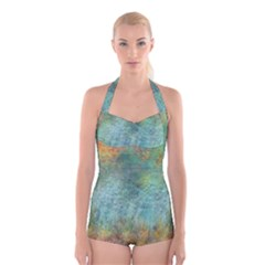 Rainforest Boyleg Halter Swimsuit
