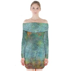 Rainforest Long Sleeve Off Shoulder Dress