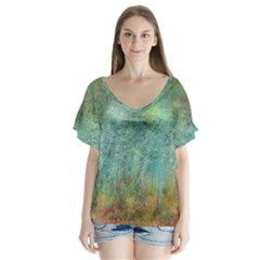 Rainforest Flutter Sleeve Top