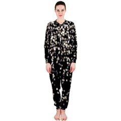 Christmas Bokeh Lights Background Onepiece Jumpsuit (ladies)