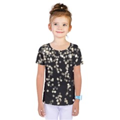 Christmas Bokeh Lights Background Kids  One Piece Tee