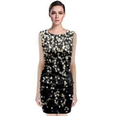 Christmas Bokeh Lights Background Sleeveless Velvet Midi Dress
