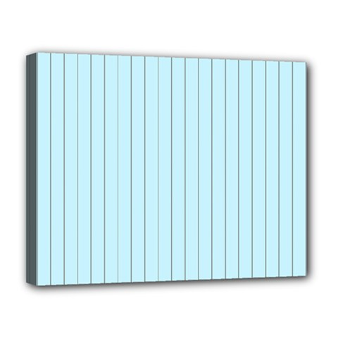 Stripes Striped Turquoise Canvas 14  X 11