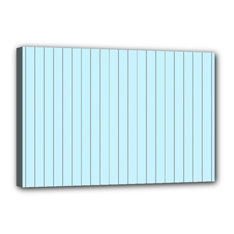 Stripes Striped Turquoise Canvas 18  X 12