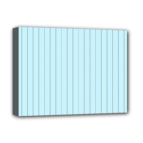 Stripes Striped Turquoise Deluxe Canvas 16  X 12