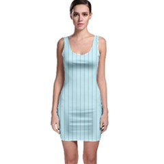 Stripes Striped Turquoise Sleeveless Bodycon Dress