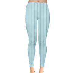 Stripes Striped Turquoise Leggings