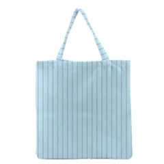 Stripes Striped Turquoise Grocery Tote Bag