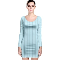 Stripes Striped Turquoise Long Sleeve Bodycon Dress