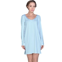 Stripes Striped Turquoise Long Sleeve Nightdress