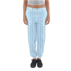 Stripes Striped Turquoise Women s Jogger Sweatpants