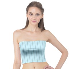 Stripes Striped Turquoise Tube Top