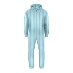 Stripes Striped Turquoise Hooded Jumpsuit (kids)