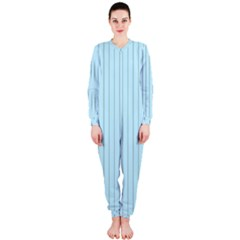 Stripes Striped Turquoise Onepiece Jumpsuit (ladies)