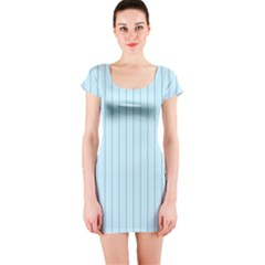 Stripes Striped Turquoise Short Sleeve Bodycon Dress