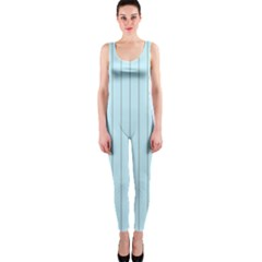 Stripes Striped Turquoise Onepiece Catsuit