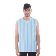 Stripes Striped Turquoise Men s Basketball Tank Top