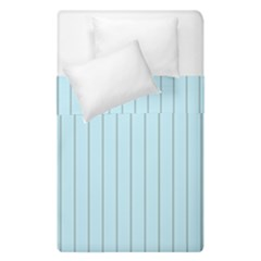 Stripes Striped Turquoise Duvet Cover Double Side (single Size)