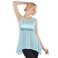 Stripes Striped Turquoise Side Drop Tank Tunic