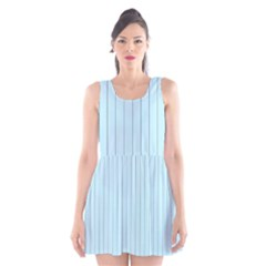 Stripes Striped Turquoise Scoop Neck Skater Dress