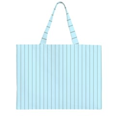 Stripes Striped Turquoise Large Tote Bag