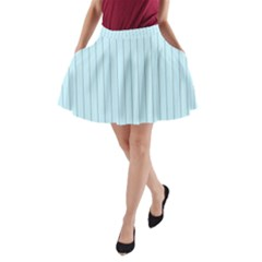Stripes Striped Turquoise A Line Pocket Skirt