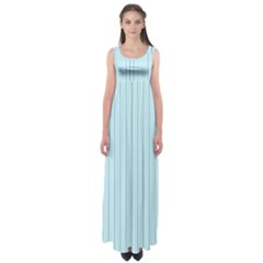 Stripes Striped Turquoise Empire Waist Maxi Dress