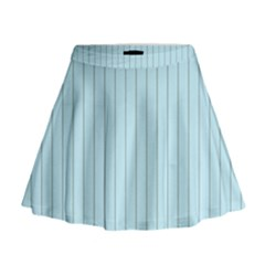 Stripes Striped Turquoise Mini Flare Skirt