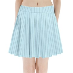 Stripes Striped Turquoise Pleated Mini Skirt