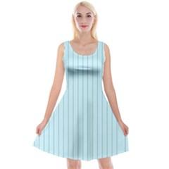 Stripes Striped Turquoise Reversible Velvet Sleeveless Dress