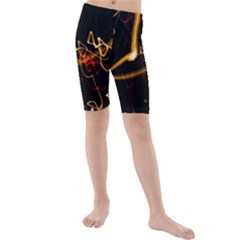 Abstract Kids  Mid Length Swim Shorts