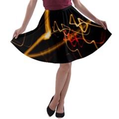 Abstract A Line Skater Skirt