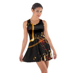 Abstract Cotton Racerback Dress