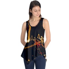 Abstract Sleeveless Tunic