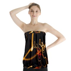 Abstract Strapless Top