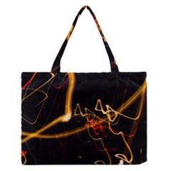 Abstract Medium Zipper Tote Bag