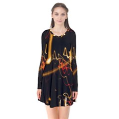 Abstract Flare Dress