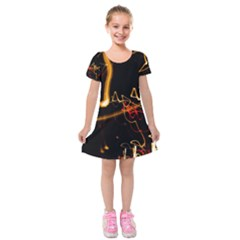 Abstract Kids  Short Sleeve Velvet Dress