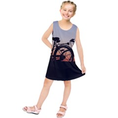 Bicycles Wheel Sunset Love Romance Kids  Tunic Dress