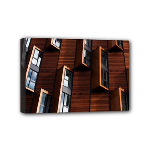 Abstract Architecture Building Business Mini Canvas 6  X 4