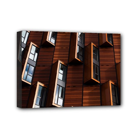 Abstract Architecture Building Business Mini Canvas 7  X 5