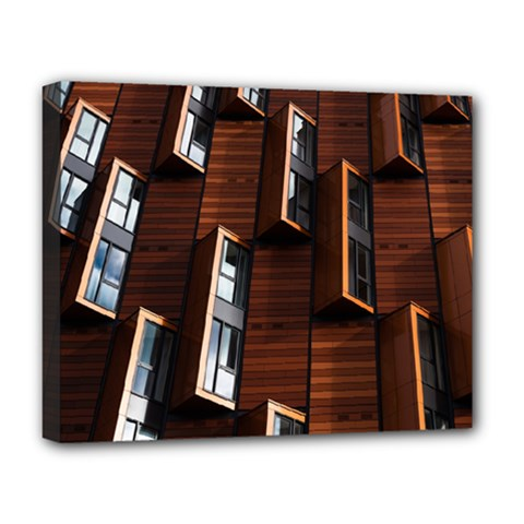 Abstract Architecture Building Business Deluxe Canvas 20  X 16