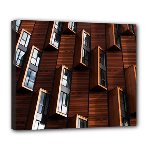 Abstract Architecture Building Business Deluxe Canvas 24  X 20