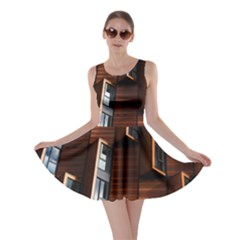Abstract Architecture Building Business Skater Dress