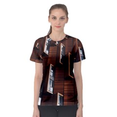 Abstract Architecture Building Business Women s Sport Mesh Tee