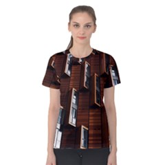 Abstract Architecture Building Business Women s Cotton Tee