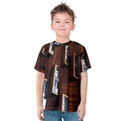 Abstract Architecture Building Business Kids  Cotton Tee